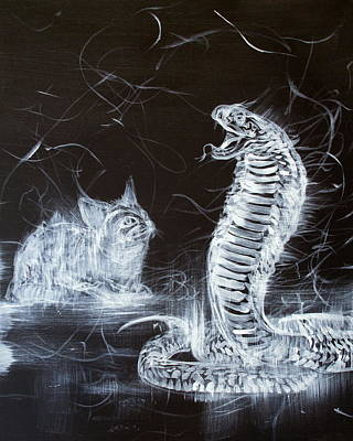 Painting - Cat And Snake by Fabrizio Cassetta
