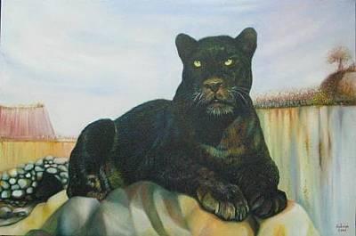 Cat Painting - Cat And The Cave by Sukalya Chearanantana