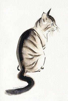 Painting - Cat Art 2 by Melly Terpening