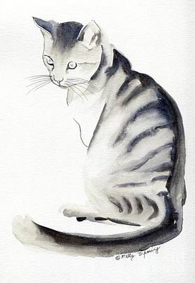 Painting - Cat Art I by Melly Terpening