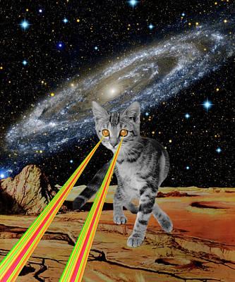 Animal Lover Digital Art - Cat Attack by Gloria Sanchez