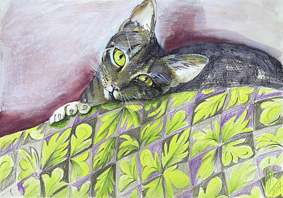 Painting - Cat Being Sweet  by Vali Irina Ciobanu