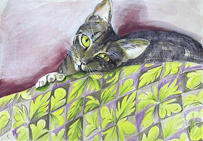 Painting - Cat Being Sweet  by Vali Irina Ciobanu