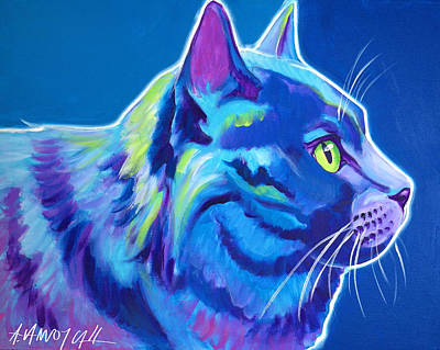 Painting - Cat - Blue Boy by Alicia VanNoy Call