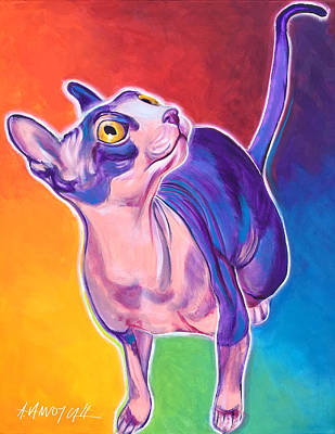 Sphynx Cat Painting - Cat - Bree by Alicia VanNoy Call