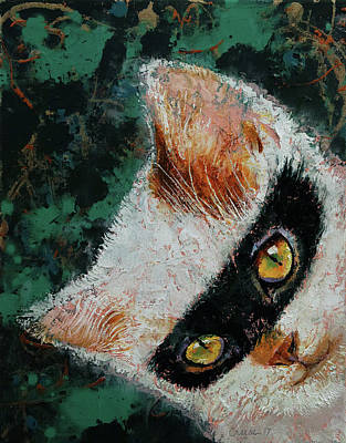 Bandit Painting - Cat Burglar by Michael Creese