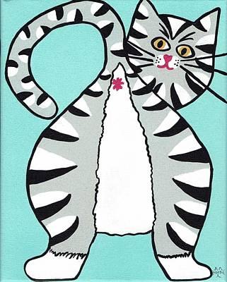 Cat Butt Art Print