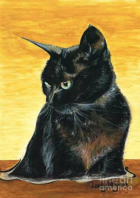 Mixed Media - Cat Called Lucky by Teresa White