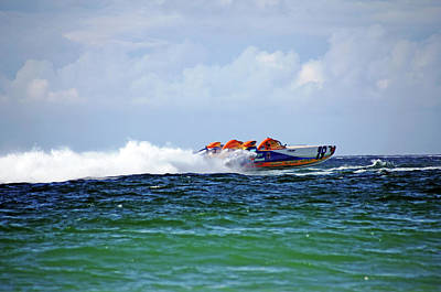 Photograph - Cat Can Do 19 Power Boat by Debbie Oppermann