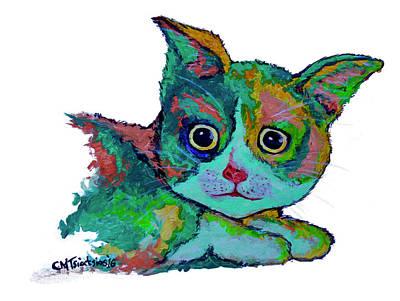 Cat For Love Art Print by Carol Tsiatsios