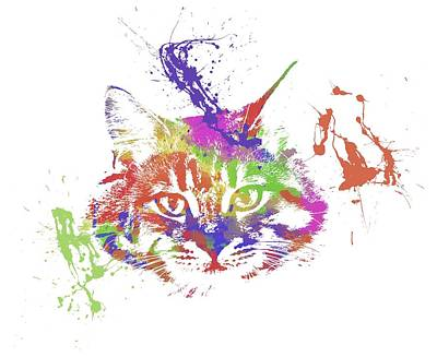 Watercolor Pet Portraits Photograph - Cat by Chris Smith