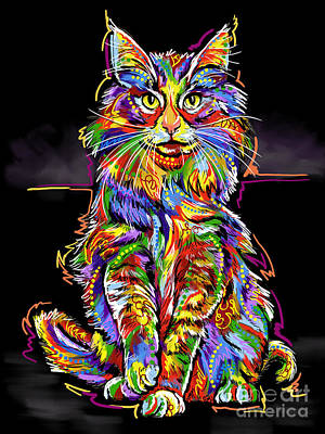 Painting - Cat  Color by Tim Gilliland