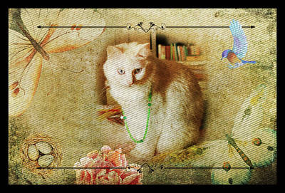 Kitty Cat Composite Art II Art Print