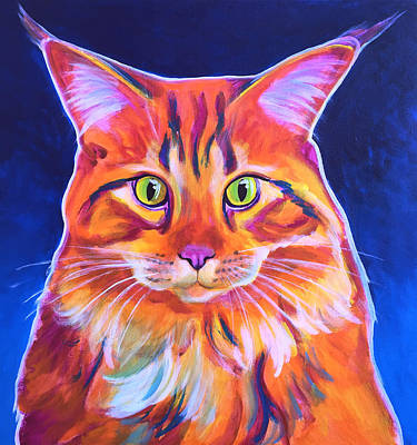 Painting - Cat - Cosmo by Alicia VanNoy Call