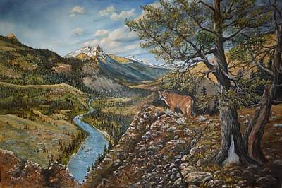 Sawtooth Mountain Art Painting - Cat Country by Dwayne Moates