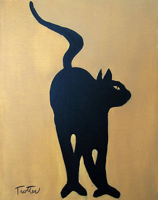 Painting - Cat Dance..... Optical Illusion by Patrick Trotter
