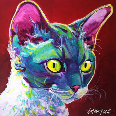 Painting - Cat - Devon Rex by Alicia VanNoy Call