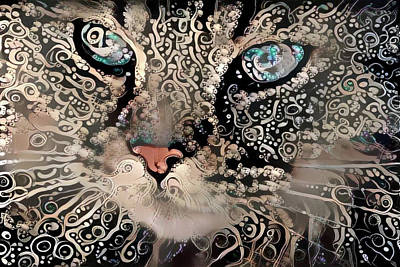 Digital Art - Cat Dreams by Peggy Collins