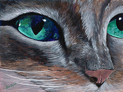 Painting - Cat Eye by Trish Campbell