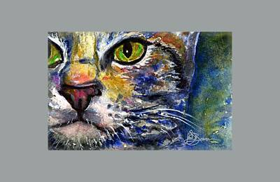 Painting - Cat Eyes 6 Shirt by John D Benson