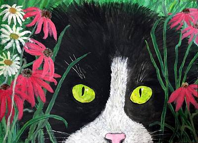 Painting - Cat Eyes by Anne Sands