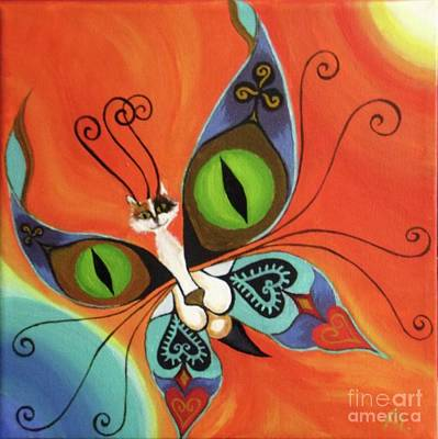 Cat-eyes Butterfly Art Print by Melina Mel P