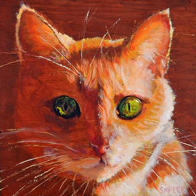 Lynee Sapere Wall Art - Painting - Cat Eyes by Lynee Sapere