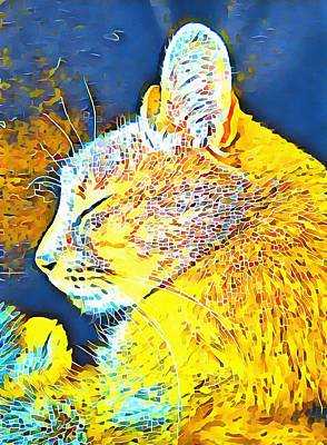 Digital Art - Cat Fancy by Dorothy Berry-Lound