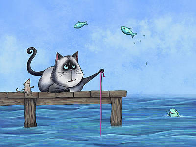 Painting - Cat Fish by Temah Nelson