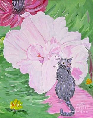 Painting - Cat Flower by Phyllis Kaltenbach