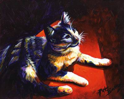 Painting - Cat Glow by Pat Burns