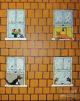 Painting - Cat Gossip by Jeffrey Koss