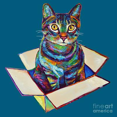 Painting - Cat In A Box by Robert Phelps
