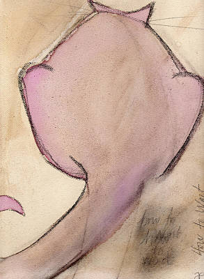 Painting - Cat In Beet 1 by Anna Elkins