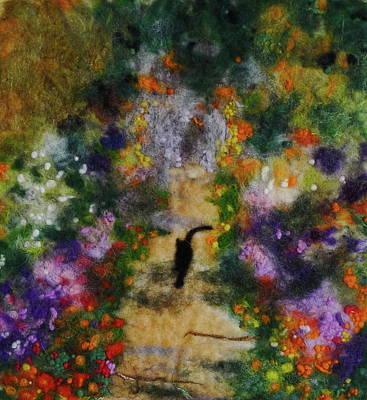 Painting - Cat In Monet's Garden by Susanne Weber