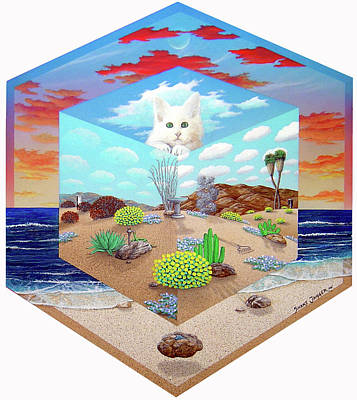 Cat In The Box Art Print by Snake Jagger