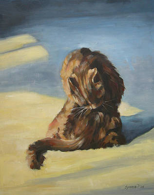 Painting - Cat In The Sun by Synnove Pettersen