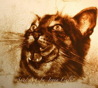 Cat Art Print by Iryna Lialko