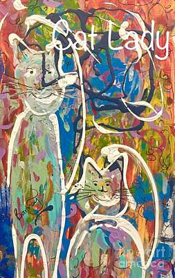 Painting - Cat Lady by Jacqui Hawk