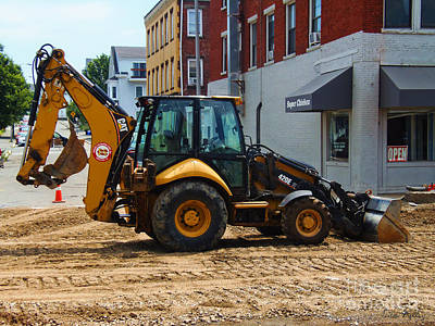 Photograph - Cat Loader Backhoe 420e It by Lita Kelley