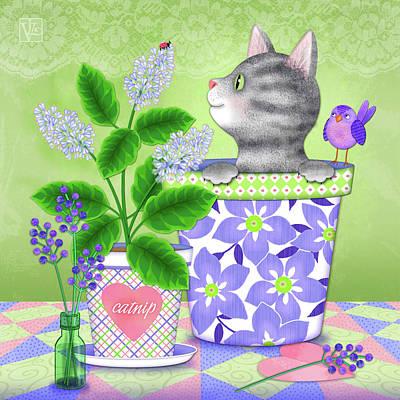 Digital Art - Cat Love by Valerie Drake Lesiak