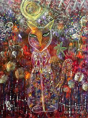 Painting - Cat Magic by Julie Engelhardt