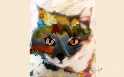 Gray Tabby Mixed Media - Cat Magic by Marcy Orendorff