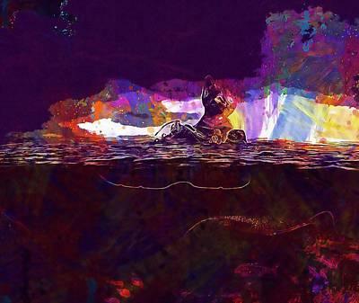 Digital Art - Cat Mar Boot  by PixBreak Art