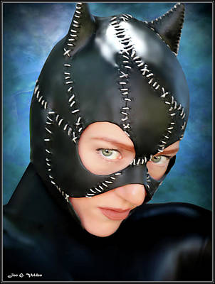 Photograph - Cat Mask by Jon Volden