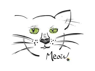 Cat Meow Art Print