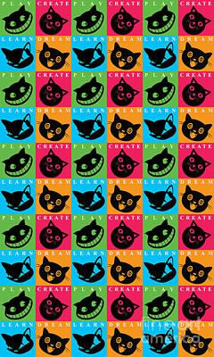 Kitty Digital Art - Cat Mode by Naviblue