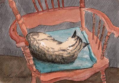 Cat Nap 2001 Art Print