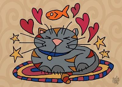 Cat Nap Art Print by Jennifer Heath Henry