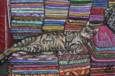 Painting - Cat Nap by Kim Selig